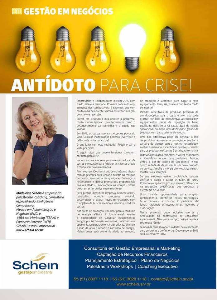 Revista Perfil_Antídoto para Crise- 201602 por Madeleine Schein