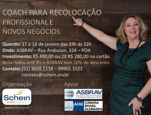 COACH PARA RECOLOCAÇÃO PROFISSIONAL E NOVOS NEGÓCIOS